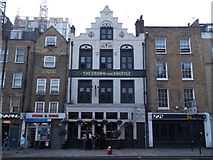 TQ3382 : The Crown and Shuttle, Shoreditch High Street by Robin Sones