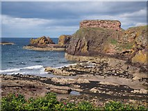 NT6779 : Dunbar Harbour Mouth and Castle Ruins by Jennifer Petrie