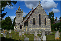 SU1734 : Church of St Michael & All Angels, Winterbourne Earls by David Martin