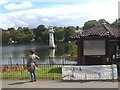 ST1879 : Social distancing at Roath Park Lake, Cardiff by Robin Drayton
