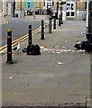 ST3188 : Litter strewn pavement, Skinner Street, Newport city centre by Jaggery