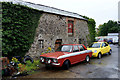 H3562 : Old building and Ford Cortina car, Dromore by Kenneth  Allen