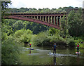 SO7679 : Paddle boarders on the River Severn by Mat Fascione