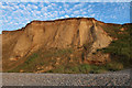 TG1443 : Cliffs near Sheringham by Hugh Venables