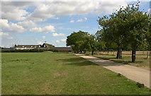 TL6829 : Entrance to Bluegate Hall farm, Great Bardfield by David Kemp