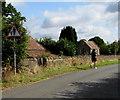 ST6390 : Warning sign - pedestrians, Kington Lane, Thornbury by Jaggery