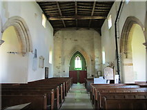 SP9599 : Church of St. John the Baptist, Wakerley interior looking westwards by Jonathan Thacker