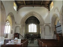 SP9599 : Church of St. John the Baptist, Wakerley, interior looking eastwards by Jonathan Thacker
