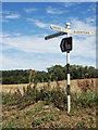 TG1118 : Signpost on Hall Road by Adrian Cable