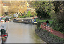 ST7565 : Narrowboat turning by Bathwick Hill by Derek Harper