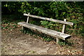TQ1348 : Westcott Memorial Bench by Peter Trimming