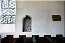 TM3464 : Rendham, St. Michael's Church: Blocked off entrance to the ancient rood loft staircase by Michael Garlick