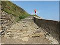 NZ3376 : Access Ramp, Collywell Bay, Seaton Sluice by Geoff Holland