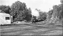 SH6441 : 'Prince' approaches Tan y Bwlch Station with engineering train by Martin Tester