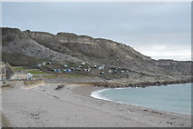 SY6873 : Chesil Cove and West Cliff by N Chadwick