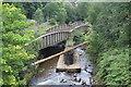 ST2198 : Railway bridge, River Ebbw, Crumlin by M J Roscoe