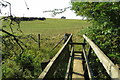 SP8222 : Footbridge on the path to Dunton by Philip Jeffrey