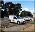 SO8005 : The Flower Shop white van in Stonehouse Community Centre car park by Jaggery
