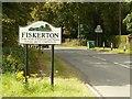 SK7351 : Fiskerton village sign by Alan Murray-Rust