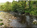 SD9278 : The river Wharfe at Hubberholme by Stephen Craven