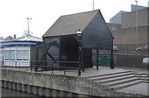 SU9949 : Treadwheel Crane, Town Wharf by N Chadwick