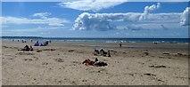 SH5631 : Busy Harlech Beach by DS Pugh