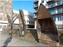 TQ3078 : Artwork, White Hart Dock, Albert Embankment by Robin Sones