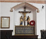 TL9568 : The War Memorial at Stowlangtoft by Adrian S Pye