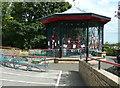 NZ6621 : The bandstand, Glenside, Saltburn by Humphrey Bolton