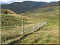 NN5409 : Deer fence near Gualainn Ghlas by Chris Wimbush