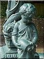 ST5196 : Cherub on a drinking fountain by Philip Halling