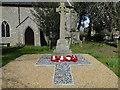 TF7636 : Docking War Memorial in the churchyard by Adrian S Pye