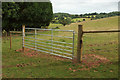 SX8970 : New gate near Haccombe by Derek Harper