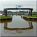 SJ6544 : Marina entrance north-west of Audlem in Cheshire by Roger  Kidd