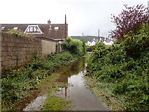 J3731 : Flooded path linking Islands Park and the Shimna Mile by Eric Jones