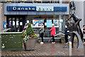 H4572 : Social distancing at Danske Bank ATM, Campsie, Omagh by Kenneth  Allen