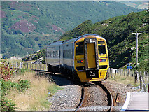 SH6214 : A train departing from Morfa Mawddach station by John Lucas