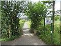 ST4453 : Strawberry Line path near Cheddar by Malc McDonald
