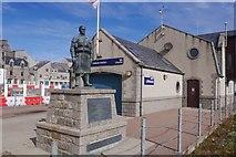 NJ9967 : Memorial and Lifeboat Station, Fraserburgh by Richard Webb