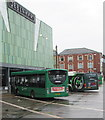 ST3188 : Restored Service 17 bus in Friars Walk bus station, Newport by Jaggery