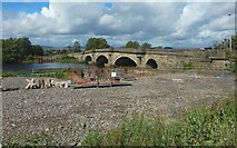 NS4967 : The Inchinnan Bridge and the beginnings of a new bridge by Lairich Rig