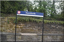 SE2439 : Horsforth Station sign by N Chadwick