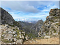 NR9942 : The bealach between North Goatfell and Mullach Buidhe by John Allan