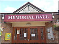 TL0103 : Entrance to Bovingdon Memorial Hall by David Hillas