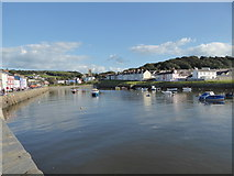 SN4562 : Aberaeron in August by Jeremy Bolwell