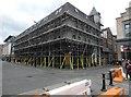 SJ8498 : Corner Boy under scaffolding by Gerald England