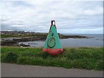 NJ9967 : Buoy beside coastal path, Broadsea Shore, Fraserburgh by JThomas