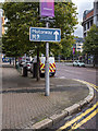 J3374 : Motorway sign, Belfast by Rossographer