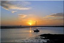NU0052 : Sunrise on the Tweed Estuary by Walter Baxter