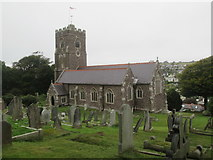 SX5547 : St  Peter's  Parish  Church  Noss  Mayo by Martin Dawes